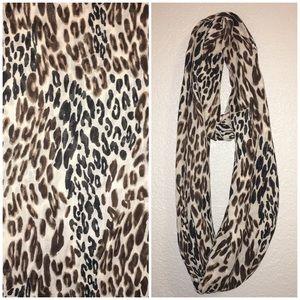 Cheetah Leopard Infinity Scarf